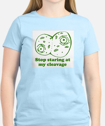Stop Staring at my Cleavage Women's Light T-Shirt