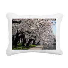 Cherry Blossom Peak Bloo Rectangular Canvas Pillow