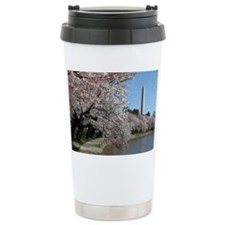 Peal bloom cherry blossom frame Travel Mug