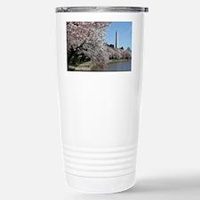 Peal bloom cherry blossom frame Travel Mug