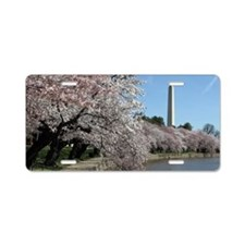 Peal bloom cherry blossom f Aluminum License Plate
