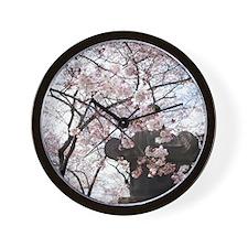 Peak Bloom Cherry Blossom around Japane Wall Clock
