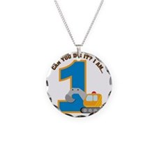 Digger1stBirthday Necklace Circle Charm