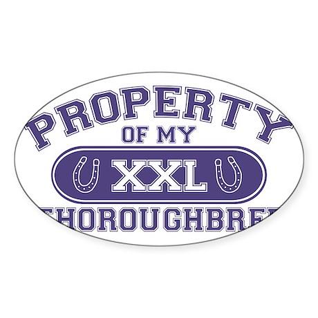 thoroughbredproperty Sticker (Oval)