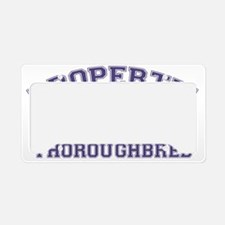 thoroughbredproperty License Plate Holder