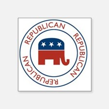 "RepublicanPassport1 Square Sticker 3"" x 3"""
