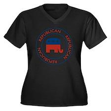 RepublicanPa Women's Plus Size Dark V-Neck T-Shirt