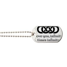infinity-times-infinity_bl Dog Tags