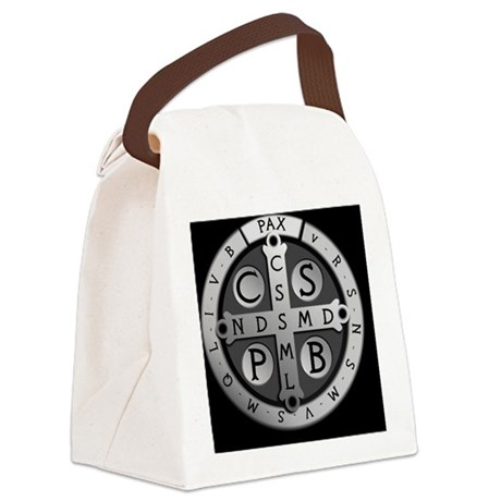 BenedictMedal_ButtonLarge Canvas Lunch Bag