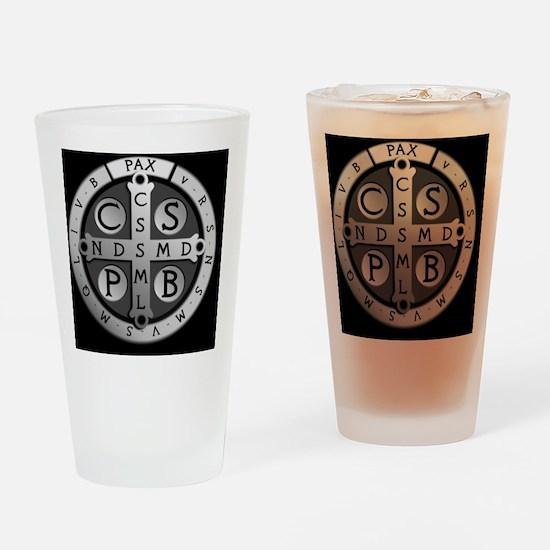 BenedictMedal_ButtonLarge Drinking Glass