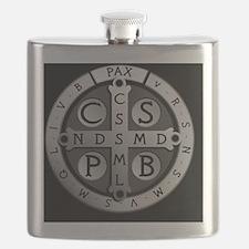 BenedictMedal_ButtonLarge Flask