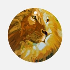 Lion Art Round Ornament