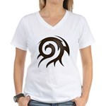 Tribal Twirl Women's V-Neck T-Shirt
