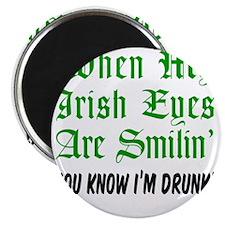 Irish Eyes Smiling Glass Magnet