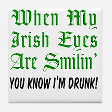 Irish Eyes Smiling Glass Tile Coaster