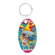 cp-pk-ostrich Aluminum Oval Keychain