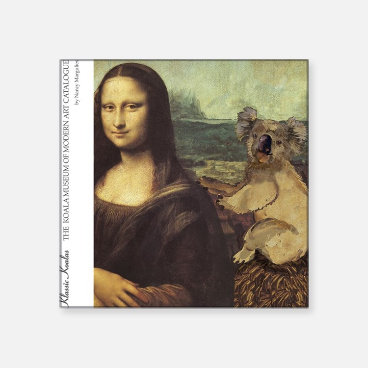 "KOMA Cover monalisa2 Square Sticker 3"" x 3"""