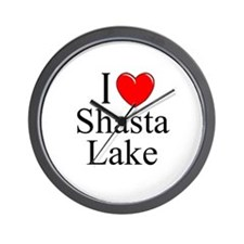 """I Love Shasta Lake"" Wall Clock"