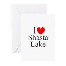 """I Love Shasta Lake"" Greeting Cards (Pk of 10)"