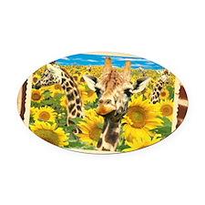 cp-pk-sunflower Oval Car Magnet