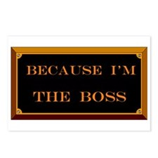 I'M THE BOSS Postcards (Package of 8)