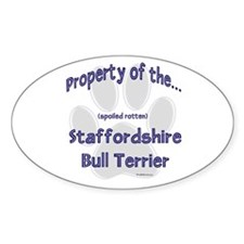Staffy Property Oval Decal