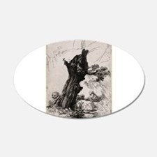 St. Jerome beside a pollard willow - Rembrandt - 1