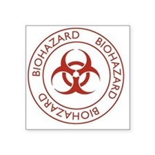 "Biohazard2 Square Sticker 3"" x 3"""