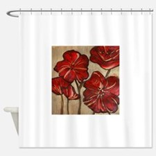 Poppy Art Shower Curtain