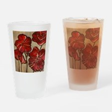 Poppy Art Drinking Glass