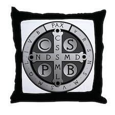 BenedictMedal_ShirtFront Throw Pillow