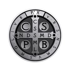BenedictMedal_ShirtFront Round Ornament