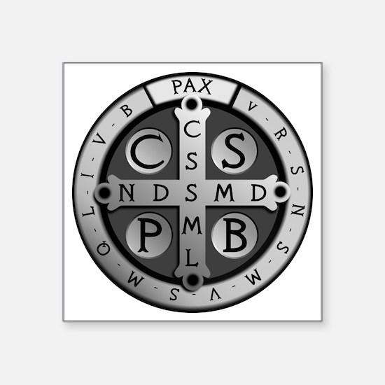 "BenedictMedal_ShirtFront Square Sticker 3"" x 3"""