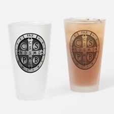 BenedictMedal_ShirtFront Drinking Glass
