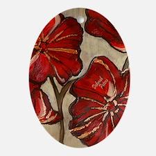 Poppy Art I Oval Ornament