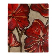 Poppy Art I Throw Blanket