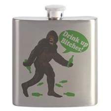 Big Foot Drink Up Bitches Green 7352429 Flask