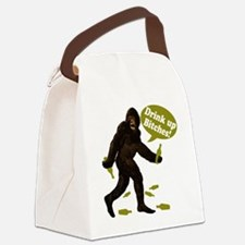 Big Foot Beer Drink Up Bitches Br Canvas Lunch Bag