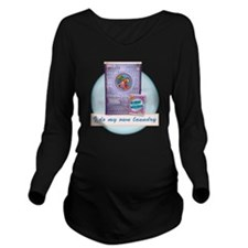 CP-tee-fishwash-fron Long Sleeve Maternity T-Shirt