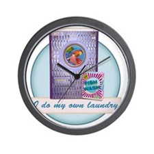 CP-tee-fishwash-front Wall Clock
