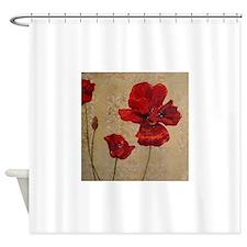Poppy Art III Shower Curtain