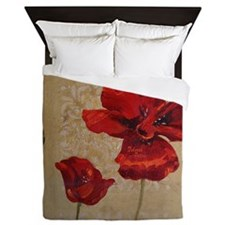 Poppy Art III Queen Duvet
