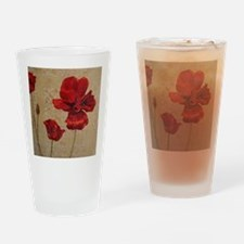 Poppy Art III Drinking Glass