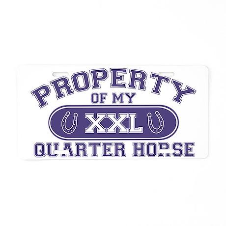 quarterhorseproperty Aluminum License Plate