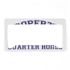 quarterhorseproperty License Plate Holder