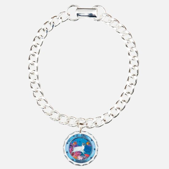 CP-tee-seadiver-front Charm Bracelet, One Charm