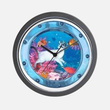 CP-tee-seadiver-front Wall Clock