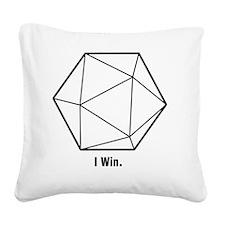 i win Square Canvas Pillow