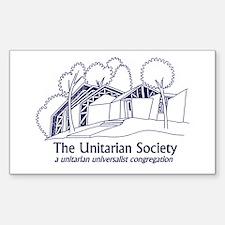Rectangle Sticker - Building Logo