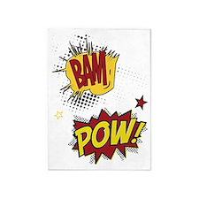 Bam Pow 5'x7'Area Rug